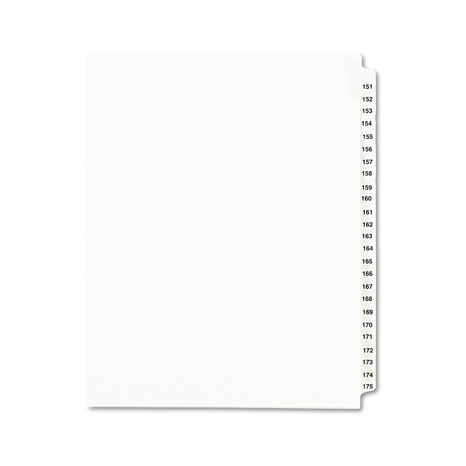Avery Legal Dividers, Standard Collated Sets, 151-175 Tab Set (01336)