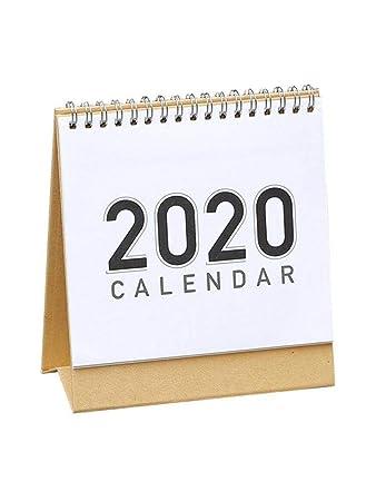 Liteness Calendario de Escritorio Mesa Mensual 2019-2020 ...