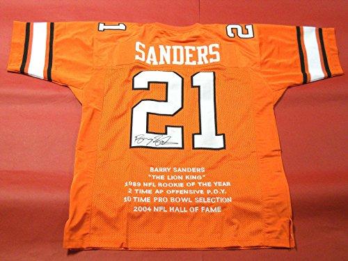 Signed Barry Sanders Jersey - Stat Osu Last One - JSA Certified - Autographed College (Barry Sanders Stats)