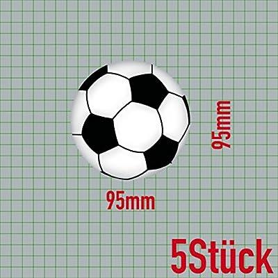 14 piezas Juego de adhesivos Tattoo decorativa de balón de fútbol ...