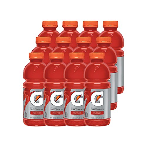 Red Fruit Punch - Gatorade Thirst Quencher, Fruit Punch, 20 Ounce Bottles (Pack of 12)