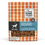 I and love and you Super Smarty Hearties with Salmon Grain Free, Functional Dog Treats, 5 oz
