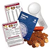 Lincoln Wheat Penny Starter Collection Kit, Part One, Whitman [9004] Lincoln Cent Folder Vol. 1, One Roll of Wheat Cents, Magnifier and Checklist, (4 Items) Great Start for Beginner Collectors