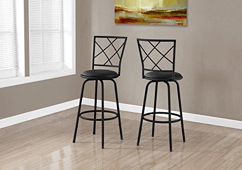 Monarch 2 Piece Swivel Barstool, (Criss Cross Counter Chair)