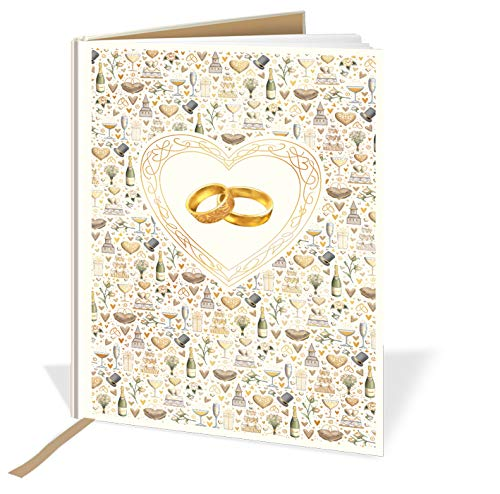 A4 Casebound Memory Wedding Book, Wedding Rings Design - 120 Pages - 11.7 x 8.3