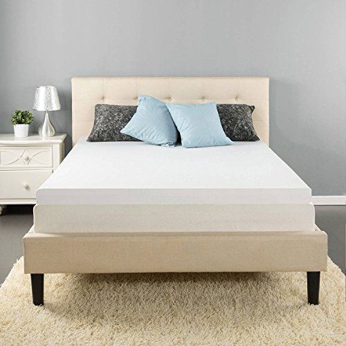 Mattress Pad. Best Comfort Orthopedic Soft Hypoallergenic Gel Foam 3'' Topper Pillow For Deep Healthy Sleep. Tempurpedic Firm Protection Cover Protects Bed From Stains, Dirt, Dust & Wetness. (Queen) by Mattress Pad