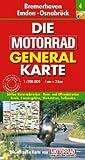 Motorrad Generalkarte Deutschland Bremerhaven, Emden, Osnabrück 1:200 000