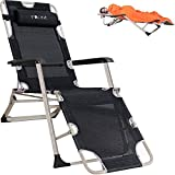 Yoler Zero Gravity Chair Beach Chairs Outdoor Patio Lounge Chair Textilene Breathable Sturdy Flat Folding Cot