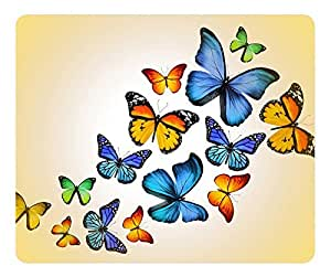 Butterflies 2 Gaming Mouse Pad Oblong Shaped Mouse Mat Design Natural Eco Rubber Durable Computer Desk Stationery Accessories Mouse Pads For Gift Support Wired Wireless or Bluetooth Mouse by icecream design