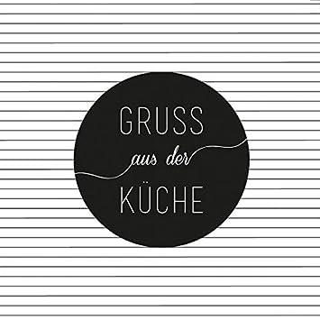 Servietten Gruß aus der Küche: Amazon.de: Küche & Haushalt