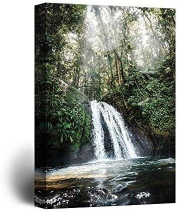 Landscape Waterfall in The Rainforest