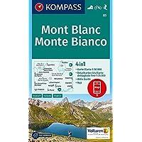 Mont Blanc, Monte Bianco: 4in1 Wanderkarte 1:50000 mit Aktiv Guide und Detailkarten inklusive Karte zur offline Verwendung in der KOMPASS-App. ... 1:50 000 (KOMPASS-Wanderkarten, Band 85)