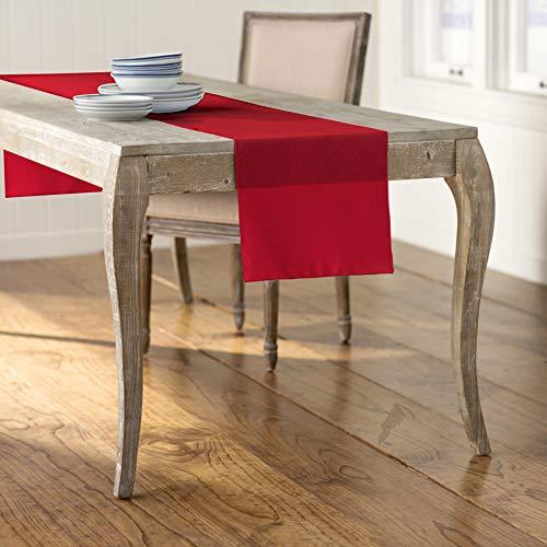 LA Linen Polyester Poplin Table Runner 14 by 108-Inch, -
