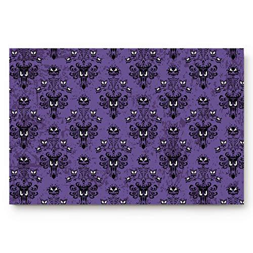 Fafahome Halloween Doormat Haunted Mansion Welcome Floor Mat for Living Dining Dorm Room Bedroom Home, 18 x 30 Inch]()