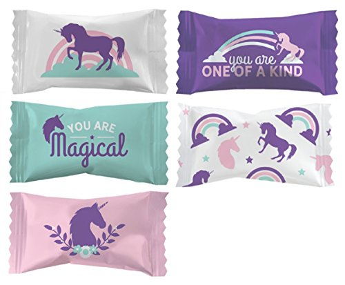 Party Sweets Unicorn Buttermint Candies Bags 100 Count Mint Candy 14 Ounce Bags (396g) Magical Goodie Treat Sweets Birthday Party Favor Supplies Decorations for Adults Teen Kids Girls and Boys ()