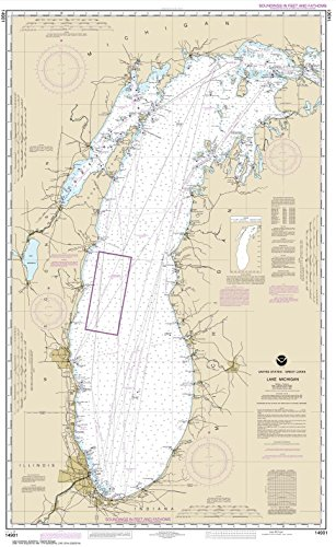 NOAA Chart 14901: Lake Michigan (Mercator Projection), 28.7 X 46.7, TRADITIONAL PAPER by Paradise Cay Publications