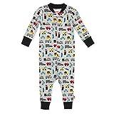 Zutano Baby Boys' Zip-Front Footless Pajamas, Cotton Sleep-and-Play Romper, Traffic, 24M