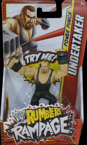 UNDERTAKER - WWE RUMBLERS RAMPAGE MATTEL TOY WRESTLING ACTION FIGURE by MATTEL