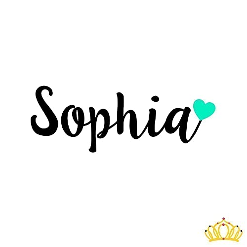 amazon com personalized cursive name with heart vinyl decal for