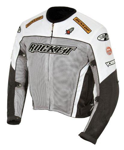 Joe Rocket UFO 2.0 Men's Street Motorcycle Jackets - Grey/Black/White/X-Large