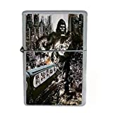 Wind Proof Dual Torch Refillable Lighter Vintage Poster D-087 King Kong Attacking the City Train
