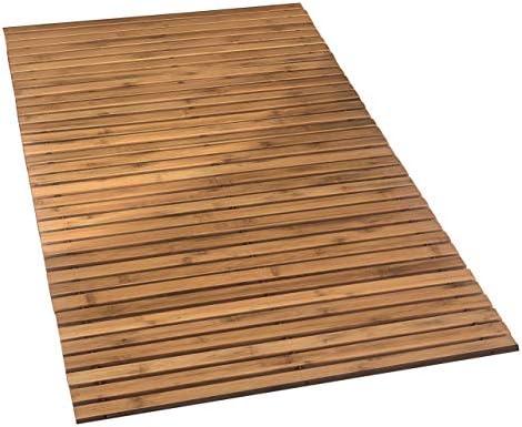 Kleine Wolke Holzmatte Level Badteppich, 100% Bambus, Natur, 80 x 50 cm