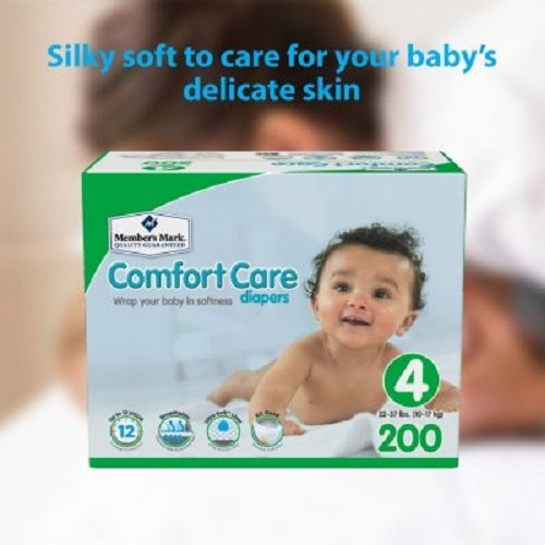 Member's Mark Comfort Care Baby Diapers Size 4 - 200 ct.