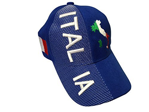 5003c20c1b4917 Baseball Caps Hats with Five 3D Embroideries – Countries of Europe (Country:  Italia Italy