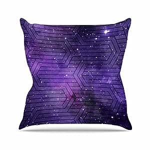 """KESS inhouse me1040aop0318x 45,7""""mate Eklund Cosmic Labyrinth Morado y lavanda"""" Cojín Manta de exterior, multicolor"""