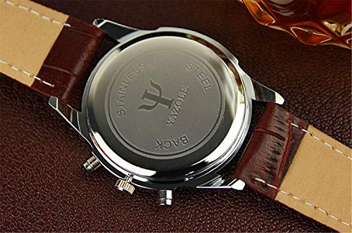 freedomer Fashion Faux Leather Mens Analog Quarts Watches Blue Ray Men Wrist Watch Mens Watches TopLuxury Men's Watches