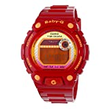 Casio Womens BLX100 4 Baby G Multi Function Digital Red Resin Sport Watch