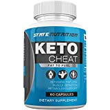 Keto Cheat - Weight Loss Advanced Support - Ketogenic Fat Loss Metabolism Support - Assists with Muscle Definition - Ketosis Supplement - 60 Capsules