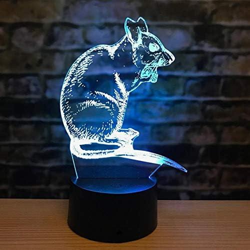 Doce Zodiac Mouse 3D Lámpara Tiger Rabbit Dragon Snake 3D Luces Led Caballo Oveja Mono Pollo Perro Cerdo Luces Nocturnas 3D: Amazon.es: Iluminación