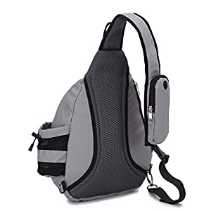 YUOTO Sling Backpack One Strap Crossbody Rope Sling Shoulder Bag Women Men grey