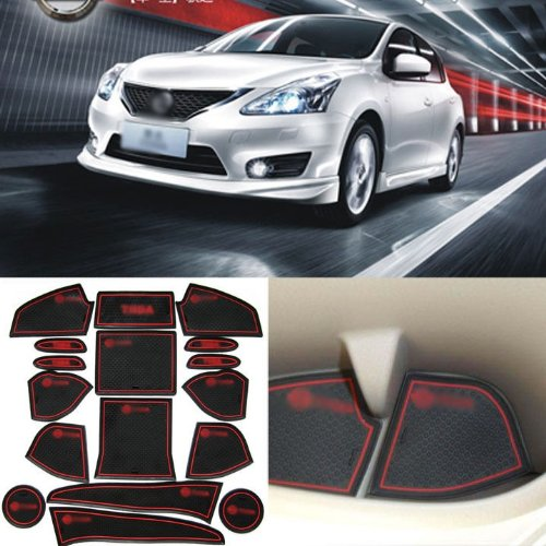 auto car accessories interior door gate rubber non slip cup mat holder slot pad 17pcs fit for. Black Bedroom Furniture Sets. Home Design Ideas
