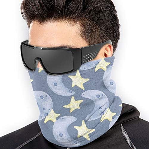 Moon And Stars ネックガード 紫外線対策 バンダナ 防寒 防風 防塵 花粉 フェイスガード 多機能 マジックスカーフ