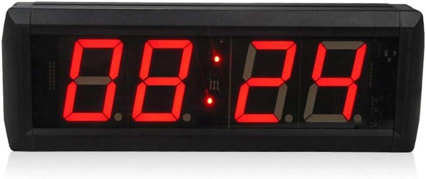 なデジタルLED壁掛け時計 LEDデジタル壁時計トレーニングタイミングクロックカウントダウンアップタイマーリモコン付き (色 : ブラック, サイズ : 29X10X4CM) ブラック 29X10X4CM
