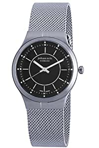 "Johan Eric Men's JE3100-04-007 ""Skive"" Stainless Steel Mesh Ultra-Slim Watch"