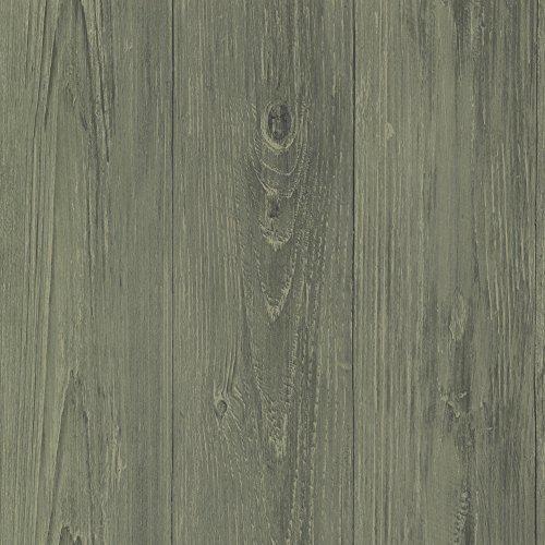 Chesapeake CTR64222 Mapleton Sage Faux Wood Texture Wallpaper