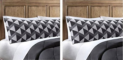 Mainstays-Microfiber-Body-Pillow-Cover-Grey-Stripes-2-pack