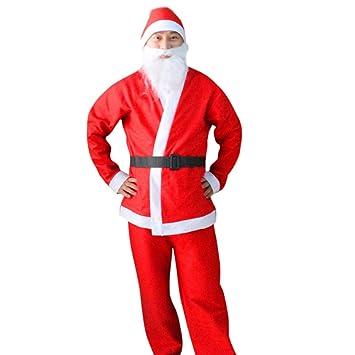 DE Weihnachtsmann Kostüm Cosplay Anzug Weihnachten Plüsch Outfit Phantasie