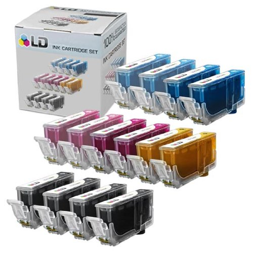 LD © Canon Compatible CLI8 Set of 14 Ink Cartridges Includes: 4 Black (CLI8BK), 2 Cyan (CLI8C), 2 Magenta (CLI8M), 2 Yellow (CLI8Y), 2 Photo Cyan (CLI8PC), and 2 Photo Magenta (CLI8PM)