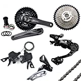 Shimano Deore Groupset 10 Speed M6000 Mountain Bike Group Set 7pcs - Black