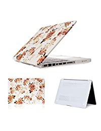 Laptop Decal Case Waterproof Vinyl Sticker Hard Shell Case Cover for MacBook Air 11.6 (A1370/A1465),YiCTe Rubberized Plastic Tablet Skin Retina,Pink Floral