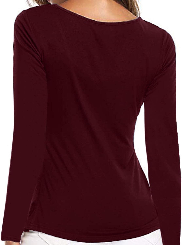 YOINS Femme Tee-Shirt Mode Manches Courtes Top /Ét/é Chic Sweatshirt Loose Tunique Haut L/âche Chemise Casual Col Rond