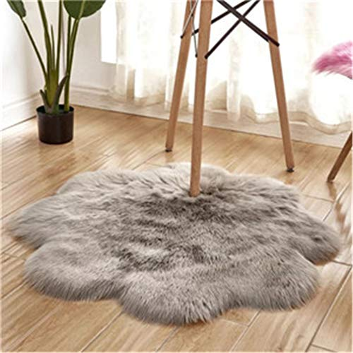 Bagless Valve - BaiJu Fluffy Flower Shape Carpets Kids Room Long Plush Rugs for Bedroom Shaggy Area 2 120cm