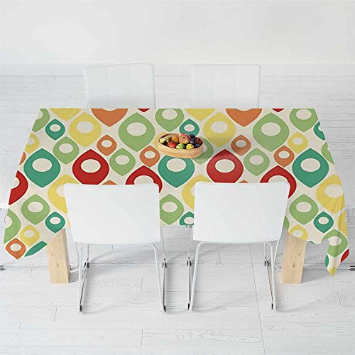 - Custom Tablecloth,Square Patterns Art Patterns,for Home & Office & Restaurant Table Tea Table,104.3 X 70.1 Inch,