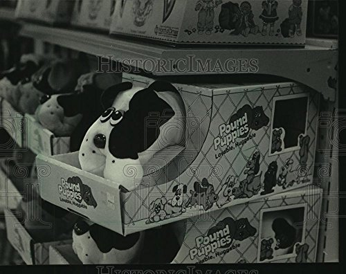 Vintage Photos 1985 Press Photo Pound Puppies Toys Stored On Shelves At Kohls Department Store