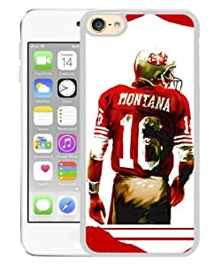 iPod Touch 6 Case ,Joe Montana White iPod Touch 6 Cover Unqiue And Durable Custom Designed Phone Case
