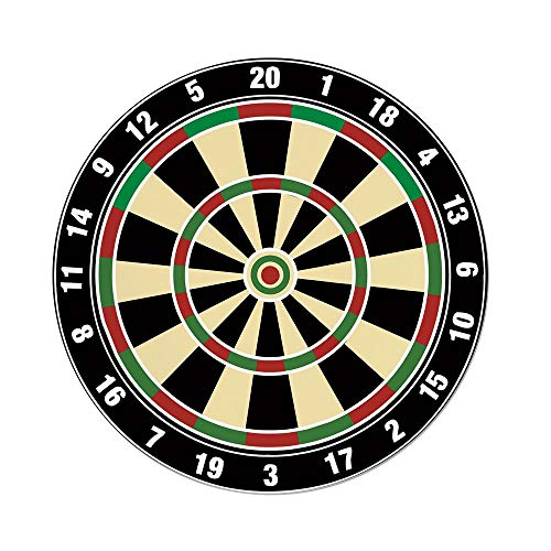 iPrint Polyester Round Tablecloth,Sports,Dart Board Numbers Sports Accuracy Precision Target Leisure Time Graphic,Vermilion Green Black,Dining Room Kitchen Picnic Table Cloth Cover,for Outdoor Indoor